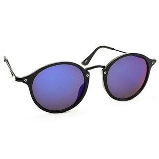 Stacle Crossover Black Round Unisex Sunglasses