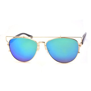 Stacle Crossover Gold Aviator Unisex Sunglasses