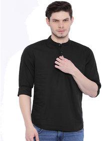 Zavlin black cotton kurta
