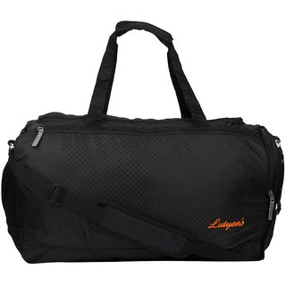 Lutyens Black Travel Duffel Bag / Gym Bag