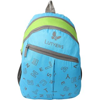 Lutyens Unisex Blue Green 20Litres Polyester School Bag