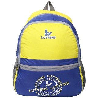 Lutyens Unisex Blue Yellow School Bag