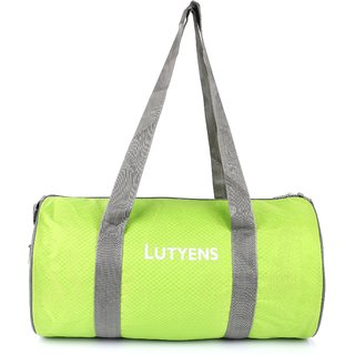 cb8e7efee4 Buy Lutyens Lime Grey Polyester Printed Casual Gym Drum Bags (20 ...