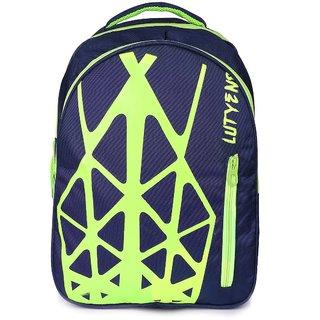 Lutyens Blue Green Polyester School Bags (22 Liters)