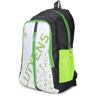 Lutyens Grey White Green Casual School Bags (22 Liters)