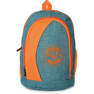 Lutyens Blue Orange Khadi Fabric School Bags (26 Liters) Lutyens_225