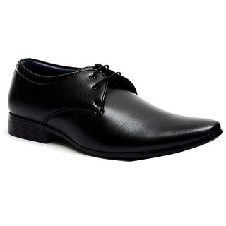 Black Oxfords Artificial Leather Formal Shoes