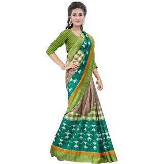 Glory sarees Multicolor Art Silk Printed Saree With Blouse