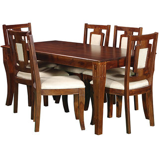 Harshita Handicrafts Dine Hard sheesham 6 Seater Dining set