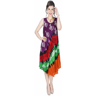 Visach Multi Printed Women's Dress