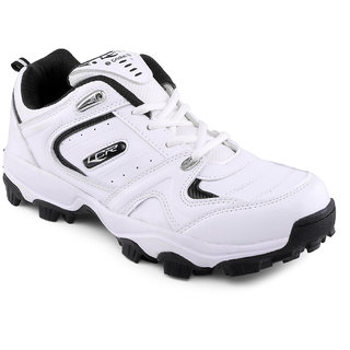 Lancer Men's White & Black Lace-up Casual Shoes