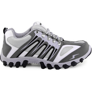 Lancer Men's White & Grey Lace-up Casual Shoes