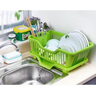 Home Kitchen Dish Drainer Rack Drying Tray Sink Holder Basket Organizer