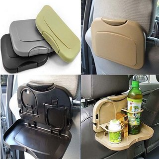 Buy 1 Get FREE Folding Car Back Seat Table Drink Food Cup Tablet Tray Holder