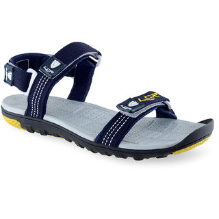 Lancer Men's Blue & Yellow Velcro Sandals