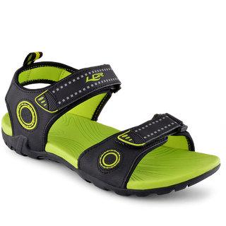 Lancer Men Black & Green Velcro S&als
