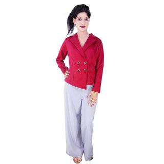 Signora Designer Mhroon Color Backless Coat(ADDA)