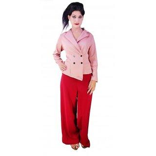 Signora Peach Color Designer Backless Coat (ADDA)