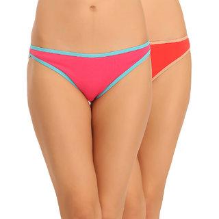 Clovia Multicolor Solid Bikinis (Pack Of 2)
