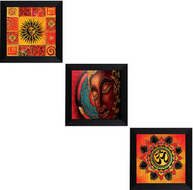 MLH Handicraft Gift Set of 3 Religious With UV Print (3*1010Art101)