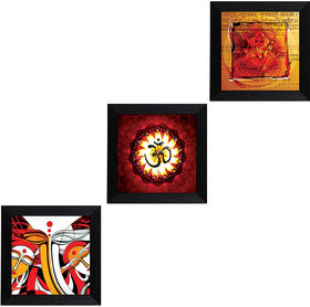 MLH Handicraft Gift Set of 3 Religious With UV Print (3*1010Art99)