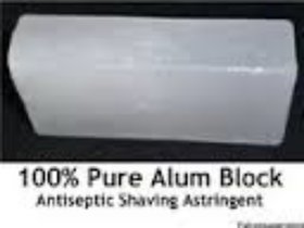 4 block of alum for wrinkles, dark circle, skin tone, dandruff and after shave - 350 gm