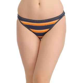 Clovia Orange Solid Bikini