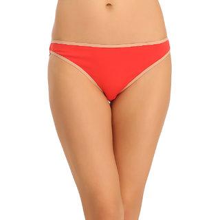 Clovia Red Solid Bikini