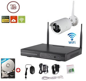 Wireless 4Ch WiFi NVR 1 Wifi Outdoor Camera Kit