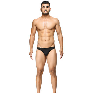 BASIICS - Semi-Seamless Feather Weight Brief (Black)