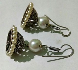 Silver Plated Stylish Hanging Earrings For Women