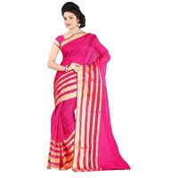 Indian Beauty. Poly Cotton Plain StripedSaree Without Blouse ( Colours Available)