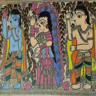 madhubani shri ram gaman painting