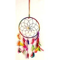 Accincart Dream Catcher Wall Hanging Helps To Get Rid Of Negitive Energy Brings Positive Energy Wool Windchime  (16 inch, Multicolor)