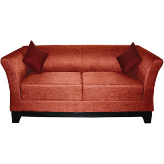 elite three+two seater (jute fabric brown colour)