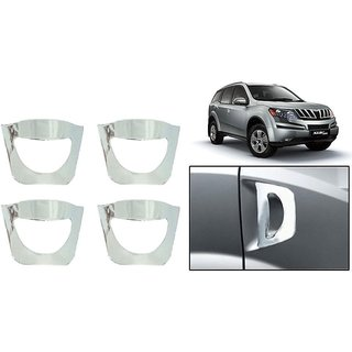 DLT -Chrome Plated Car Door Handle Cover for Mahindra XUV 500 (Set of 4)