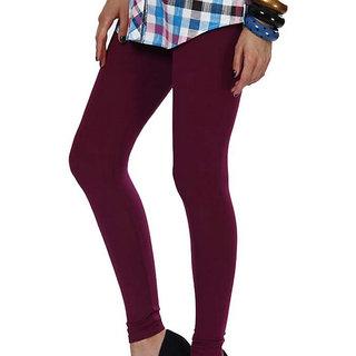 Femza Dark Purple Woolen Leggings