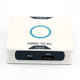 Tech Gear HDMI to AV Audio Video 3RCA Convertor Adapter