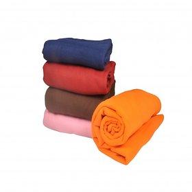 Set of 5 polar fleece single blanket