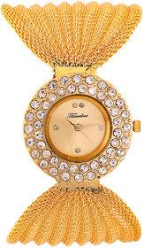 Timebre Round Dial Golden Metal Strap Womens Watch