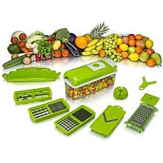 Unique traders Green Stainless Steel Multifunctional Dicer Plus Vegetable cutter