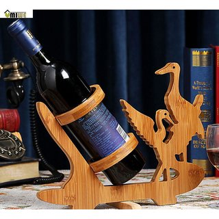 RBS BAMBOO BOTTLE RACK/ STAND BEAUTIFUL AND ELEGANT FOLDING