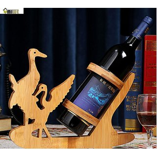 RBS BAMBOO BOTTLE RACK/ STAND BEAUTIFUL AND ELEGANT