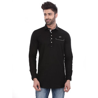 Apris Black Full Sleeves Shirt For Men