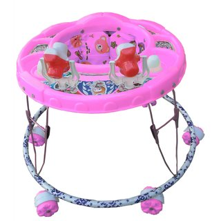 1428555513e Buy Oh Baby Baby Round Shape 2 Big Rattle Pink Color Walker For Your Kids  SE-W-55 Online - Get 11% Off