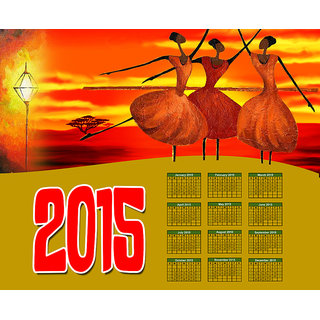 meSleep Happy New Year 2015 Canvas Painting without frame.