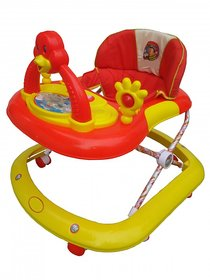 Oh Baby, Baby Adjustable Musical With Light Square Tweety Play Tray Shape Red Color Walker For Your Kid SE-W-63