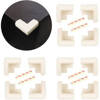 High Quality,High Density, L-Shaped Large (6.5*6.5*4 cm) NBR Corner Cushions-Pack of 12