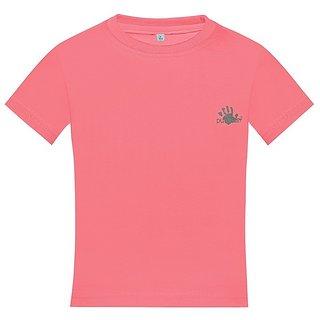 Punkster Cotton Lycra Pink Sleeveless Top For Girls