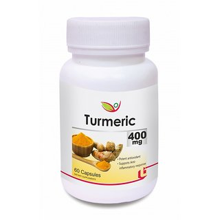 Biotrex Turmeric Pure Herbal Supplement - 400mg Increases The Anti-oxidant